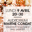 Université Paul Sabatier – Auditorium Marthe Condat – 9 avril 2018