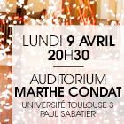 Université Paul Sabatier – Auditorium Marthe Condat – 9 avril 2018